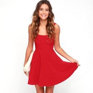 NWOT Home Before Daylight Red Lulu's Dress